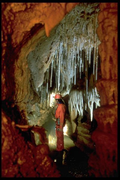 Le Canyon de la Salle Blanche juste avant le siphon inconu ,reconu seulement sur 300m ...